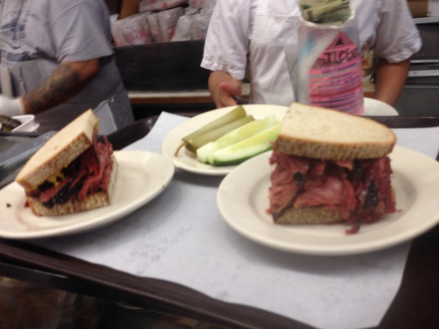 One pastrami sandwich instead of two at Katz' Deli