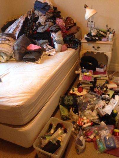 konmari process clothes closet