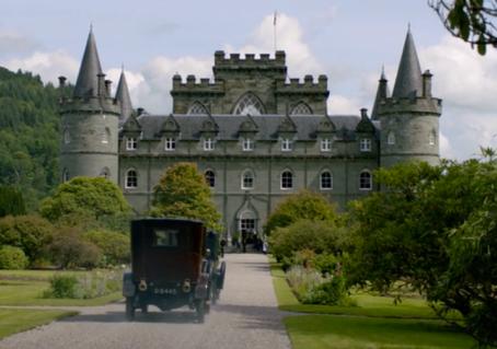downton abbey scotland travel