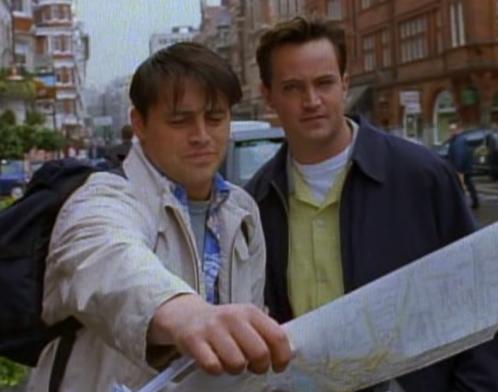 friends london travel chandler joey map travel